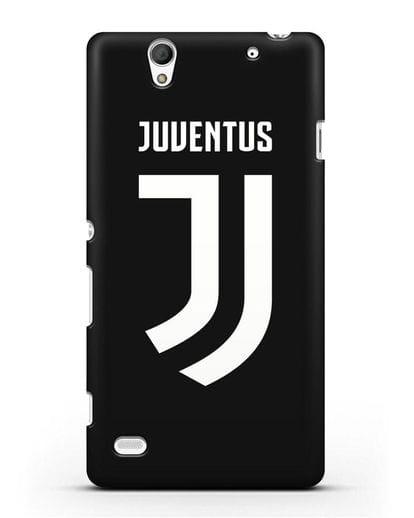 Чехол с логотипом и надписью Juventus силикон черный для Sony Xperia C4