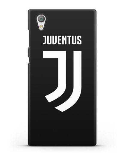 Чехол с логотипом и надписью Juventus силикон черный для Sony Xperia L1