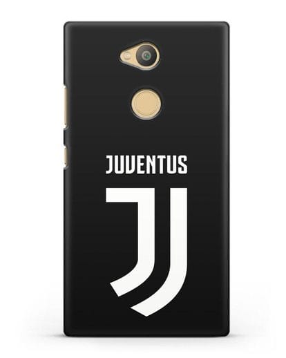 Чехол с логотипом и надписью Juventus силикон черный для Sony Xperia L2