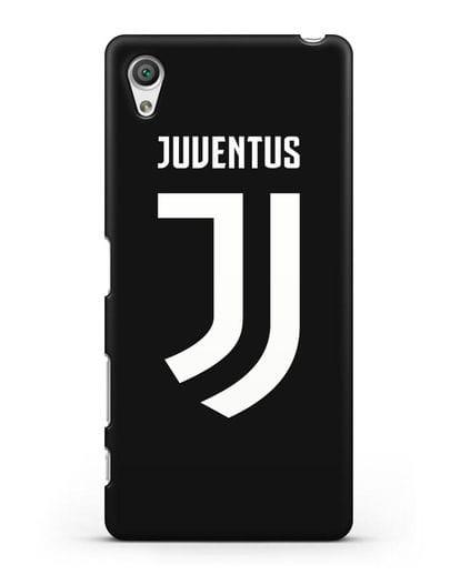 Чехол с логотипом и надписью Juventus силикон черный для Sony Xperia X