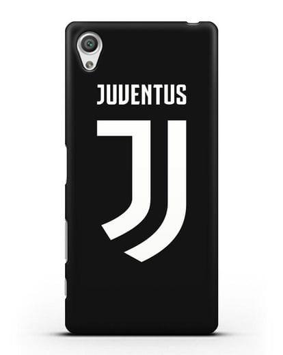 Чехол с логотипом и надписью Juventus силикон черный для Sony Xperia X Performance