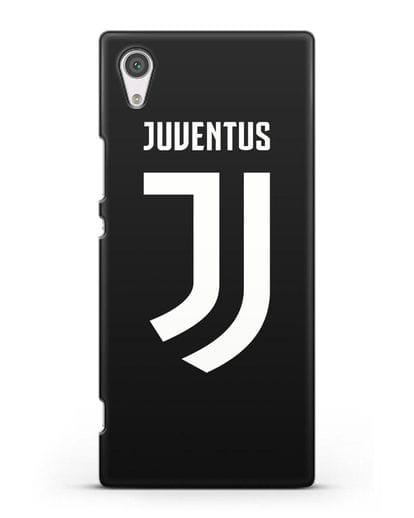 Чехол с логотипом и надписью Juventus силикон черный для Sony Xperia XA1