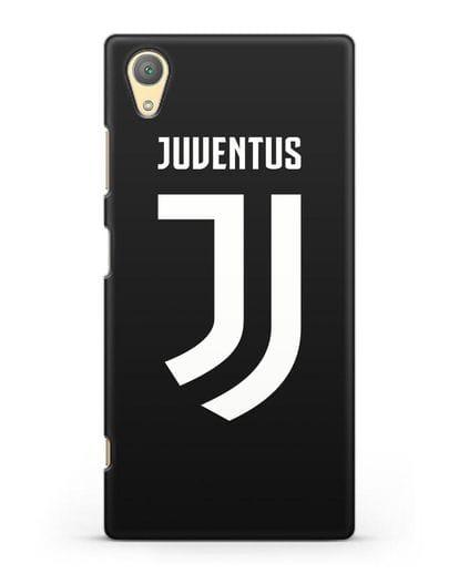 Чехол с логотипом и надписью Juventus силикон черный для Sony Xperia XA1 Plus