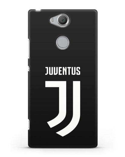 Чехол с логотипом и надписью Juventus силикон черный для Sony Xperia XA2