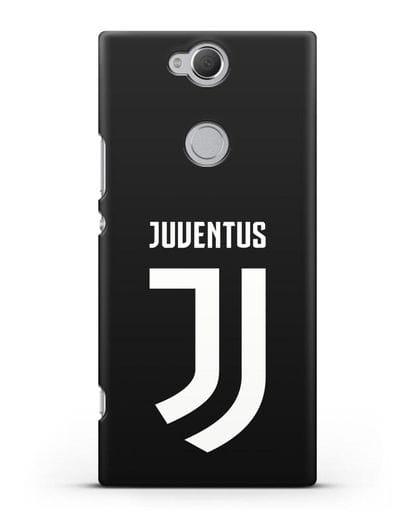 Чехол с логотипом и надписью Juventus силикон черный для Sony Xperia XA2 Plus