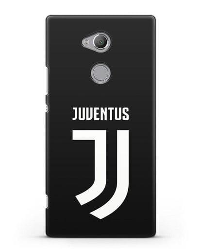 Чехол с логотипом и надписью Juventus силикон черный для Sony Xperia XA2 Ultra