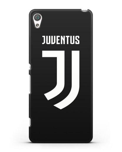 Чехол с логотипом и надписью Juventus силикон черный для Sony Xperia XA