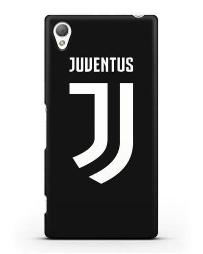 Чехол с логотипом и надписью Juventus силикон черный для Sony Xperia XA Ultra