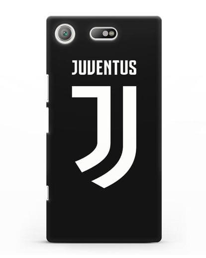 Чехол с логотипом и надписью Juventus силикон черный для Sony Xperia XZ1 Compact