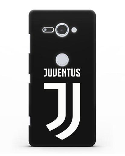 Чехол с логотипом и надписью Juventus силикон черный для Sony Xperia XZ2 Compact