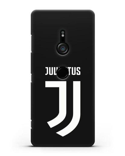 Чехол с логотипом и надписью Juventus силикон черный для Sony Xperia XZ3