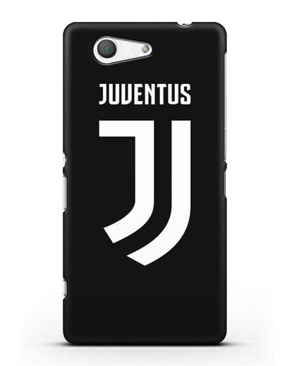 Чехол с логотипом и надписью Juventus силикон черный для Sony Xperia Z3 Compact
