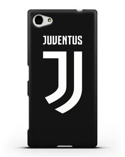 Чехол с логотипом и надписью Juventus силикон черный для Sony Xperia Z5 Compact