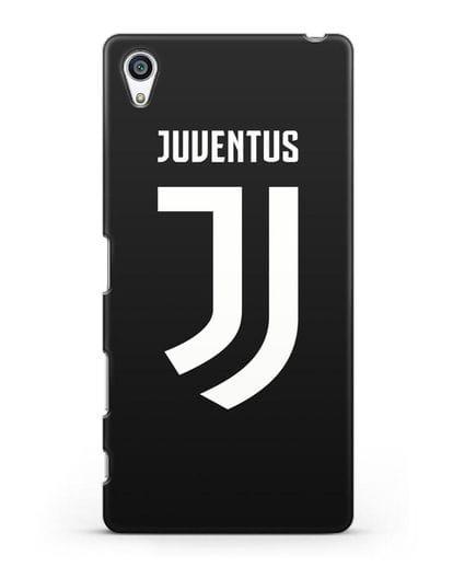 Чехол с логотипом и надписью Juventus силикон черный для Sony Xperia Z5 Premium
