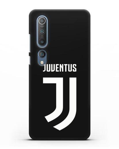 Чехол с логотипом и надписью Juventus силикон черный для Xiaomi Mi 10
