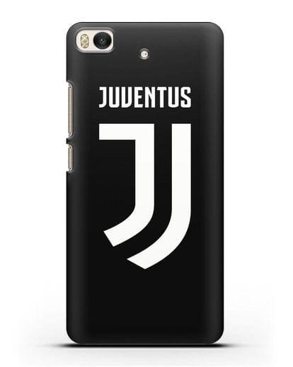 Чехол с логотипом и надписью Juventus силикон черный для Xiaomi Mi 5S