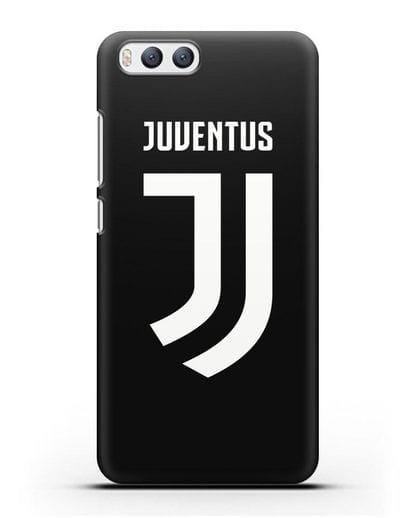 Чехол с логотипом и надписью Juventus силикон черный для Xiaomi Mi 6