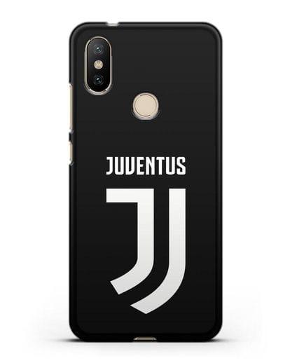 Чехол с логотипом и надписью Juventus силикон черный для Xiaomi Mi 6X