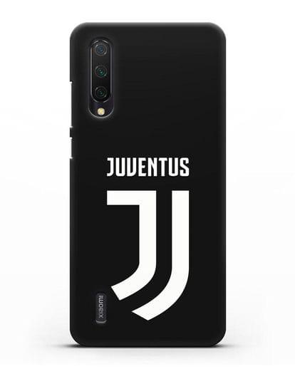 Чехол с логотипом и надписью Juventus силикон черный для Xiaomi Mi 9 Lite