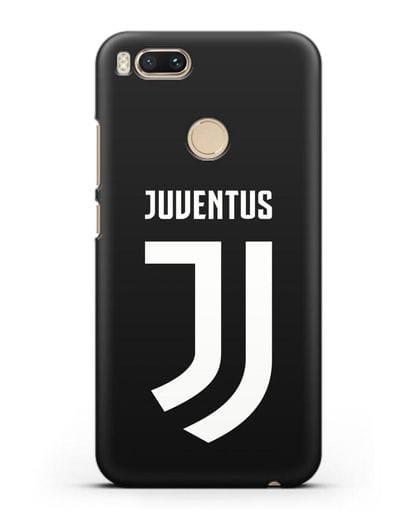 Чехол с логотипом и надписью Juventus силикон черный для Xiaomi Mi A1