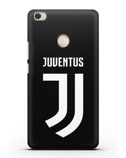 Чехол с логотипом и надписью Juventus силикон черный для Xiaomi Mi Max