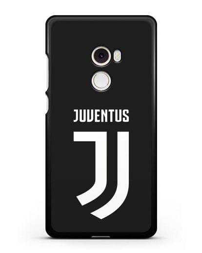 Чехол с логотипом и надписью Juventus силикон черный для Xiaomi Mi Mix 2