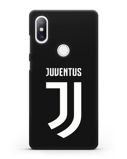 Чехол с логотипом и надписью Juventus силикон черный для Xiaomi Mi Mix 2S