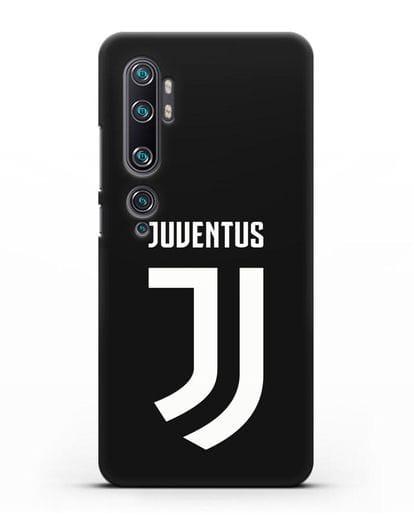 Чехол с логотипом и надписью Juventus силикон черный для Xiaomi Mi Note 10