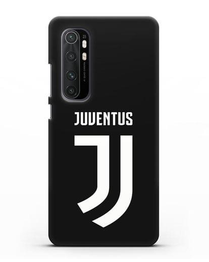 Чехол с логотипом и надписью Juventus силикон черный для Xiaomi Mi Note 10 lite