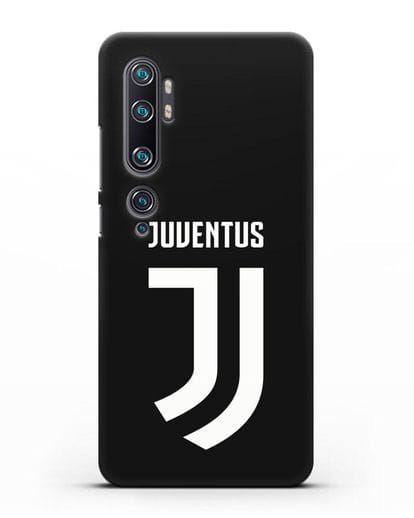 Чехол с логотипом и надписью Juventus силикон черный для Xiaomi Mi Note 10 Pro