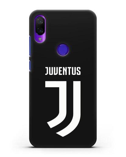 Чехол с логотипом и надписью Juventus силикон черный для Xiaomi Mi Play