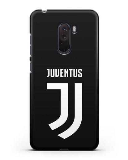 Чехол с логотипом и надписью Juventus силикон черный для Xiaomi Pocophone F1