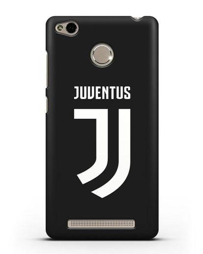 Чехол с логотипом и надписью Juventus силикон черный для Xiaomi Redmi 3 Pro