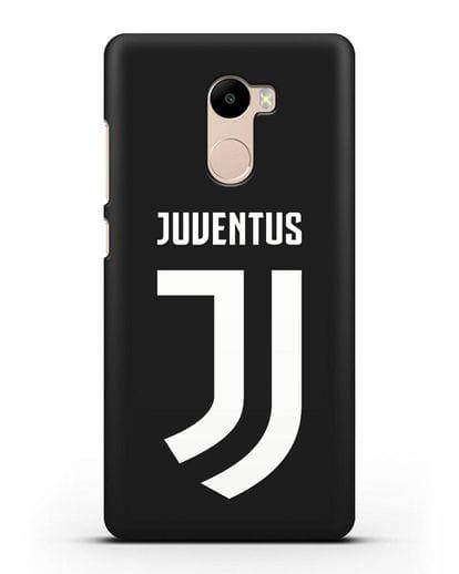 Чехол с логотипом и надписью Juventus силикон черный для Xiaomi Redmi 4