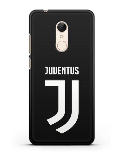 Чехол с логотипом и надписью Juventus силикон черный для Xiaomi Redmi 5