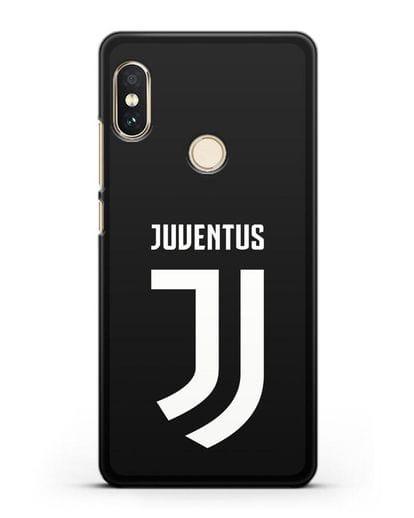 Чехол с логотипом и надписью Juventus силикон черный для Xiaomi Redmi 6 Pro