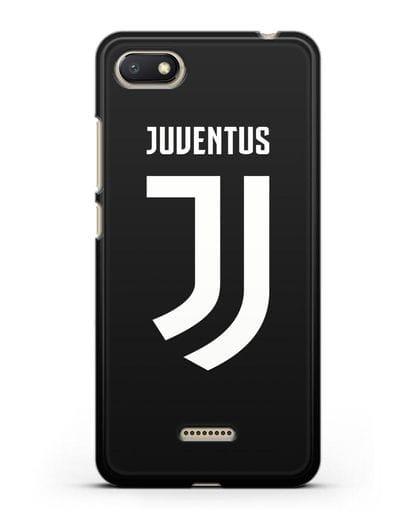 Чехол с логотипом и надписью Juventus силикон черный для Xiaomi Redmi 6A
