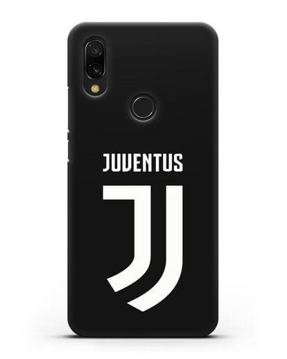 Чехол с логотипом и надписью Juventus силикон черный для Xiaomi Redmi 7