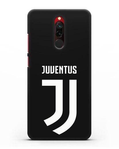 Чехол с логотипом и надписью Juventus силикон черный для Xiaomi Redmi 8