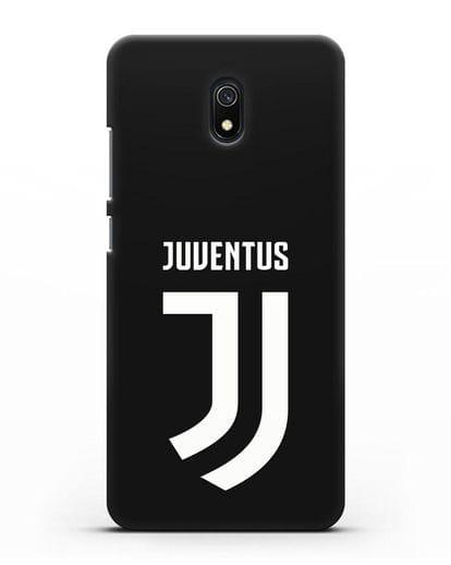 Чехол с логотипом и надписью Juventus силикон черный для Xiaomi Redmi 8A