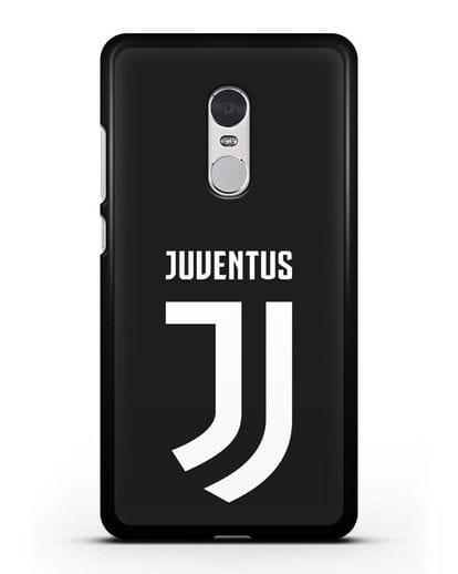 Чехол с логотипом и надписью Juventus силикон черный для Xiaomi Redmi Note 4X