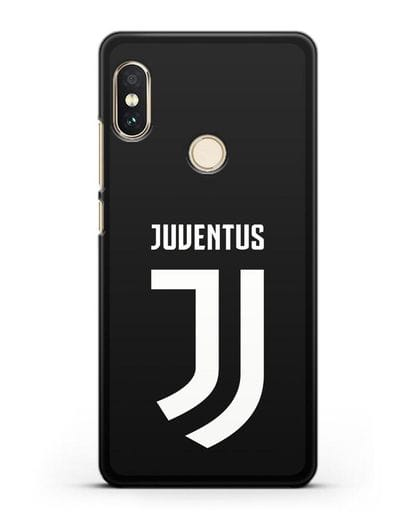 Чехол с логотипом и надписью Juventus силикон черный для Xiaomi Redmi Note 5