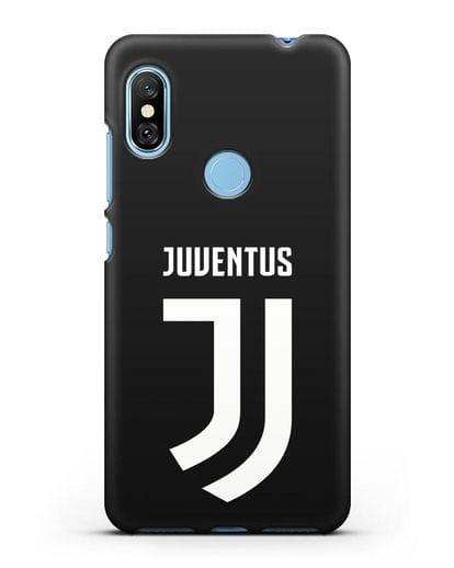 Чехол с логотипом и надписью Juventus силикон черный для Xiaomi Redmi Note 6 Pro