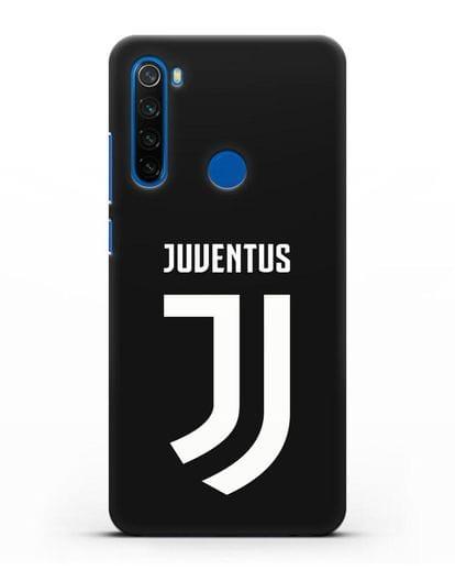 Чехол с логотипом и надписью Juventus силикон черный для Xiaomi Redmi Note 8T