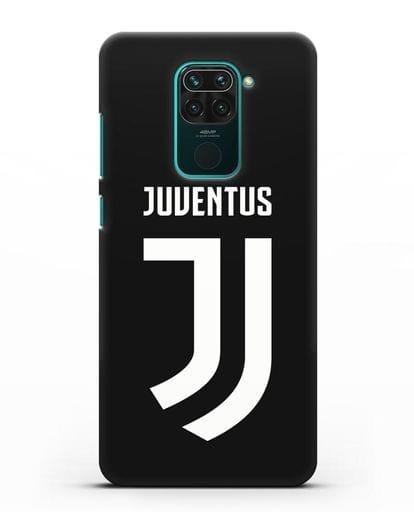 Чехол с логотипом и надписью Juventus силикон черный для Xiaomi Redmi Note 9