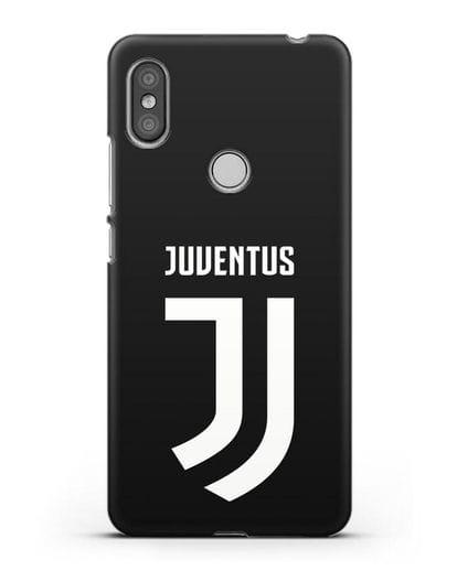 Чехол с логотипом и надписью Juventus силикон черный для Xiaomi Redmi S2