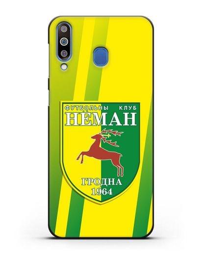 Чехол с символикой ФК Неман Гродно силикон черный для Samsung Galaxy M30 [SM-M305F]