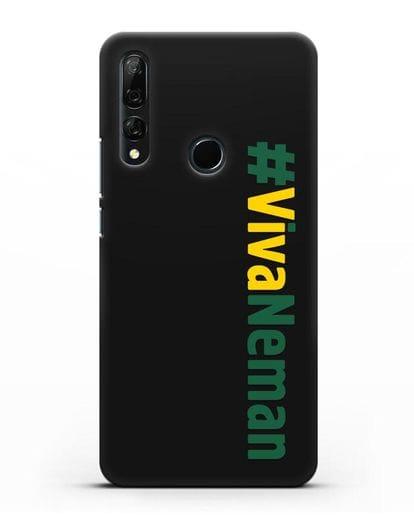 Чехол с надписью #VivaNeman силикон черный для Honor 9X
