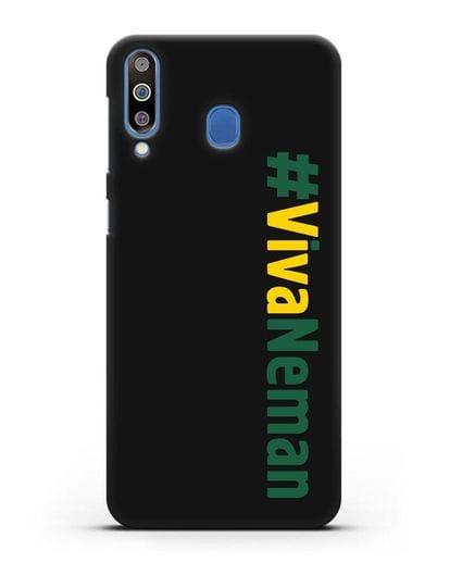 Чехол с надписью #VivaNeman силикон черный для Samsung Galaxy M30 [SM-M305F]
