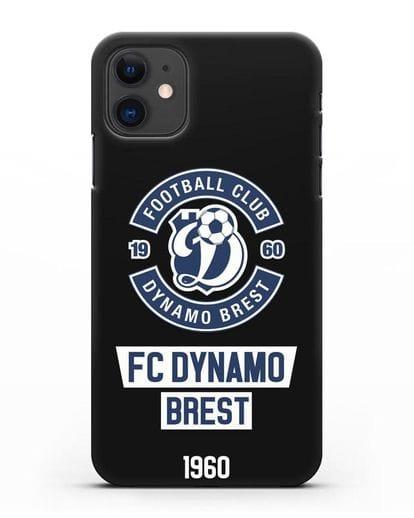 Чехол с эмблемой ФК Динамо Брест силикон черный для iPhone 11